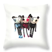 The Ax Trio Throw Pillow by Oddball Art Co by Lizzy Love