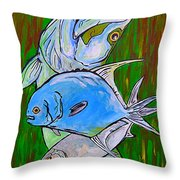 The Backcountry Slam Throw Pillow by William Depaula
