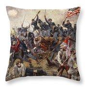 The Battle of Spotsylvania Throw Pillow by Henry Alexander Ogden
