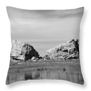 The Big Rock   Okotoks Erratic Throw Pillow by Al Bourassa