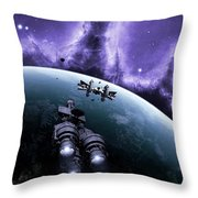 The Blockade Runner Treacherous Throw Pillow by Brian Christensen