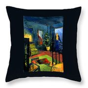 The Blue Room Throw Pillow by Mona Edulesco