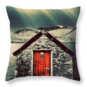 The Boathouse Throw Pillow by Meirion Matthias