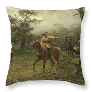 The Boscobel Oak Throw Pillow by Earnest Crofts