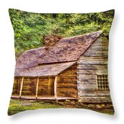 The Bud Ogle Homestead Throw Pillow by Barry Jones