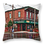 The Buddha Belly Throw Pillow by Steve Harrington
