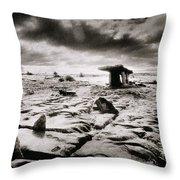 The Burren Throw Pillow by Simon Marsden