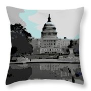 the Capitol Throw Pillow by George Pedro