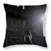 The Castle Throw Pillow by Joana Kruse