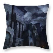 The Castle Throw Pillow by Virginia Palomeque