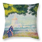 The Church Of Santa Maria Degli Angeli Throw Pillow by Henri-Edmond Cross