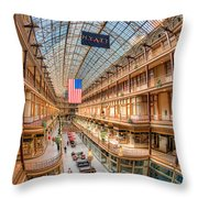 The Cleveland Arcade Iv Throw Pillow by Clarence Holmes