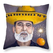 The Competitive Sombrero Couple 2 Throw Pillow by Leah Saulnier The Painting Maniac