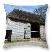 The Cowfold Barn Throw Pillow by Dawn OConnor