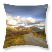 The Cuillin Mountains Of Skye Throw Pillow by Chris Thaxter