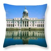 The Custom House, River Liffey, Dublin Throw Pillow by The Irish Image Collection