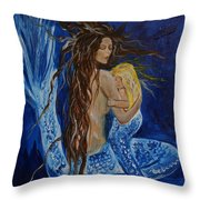 The Deepest Love Throw Pillow by Leslie Allen