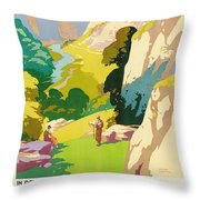 The Derbyshire Dales Throw Pillow by Frank Sherwin
