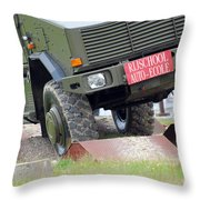 The Dingo 2 Mppv Of The Belgian Army Throw Pillow by Luc De Jaeger