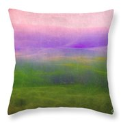 The Distant Hills Throw Pillow by Judi Bagwell