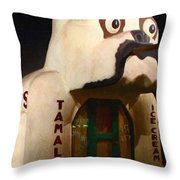 The Dog Cafe - Painterly - 7d17426 Throw Pillow by Wingsdomain Art and Photography