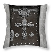 The Door - Ceske Budejovice Throw Pillow by Christine Till