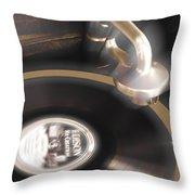 The Edison Record Player Throw Pillow by Mike McGlothlen