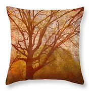 The Fairy Tree Throw Pillow by Brett Pfister