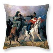 The Fight For The Standard Throw Pillow by Granger