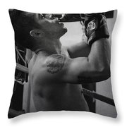 the Fighter Throw Pillow by Lisa Knechtel