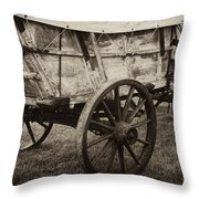 The First Station Wagons Throw Pillow by Paul W Faust -  Impressions of Light