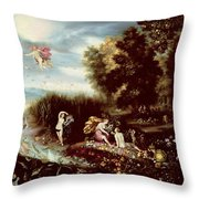 The Four Elements  Throw Pillow by Flemish School