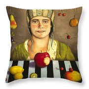 The Fruit Collector 2 Throw Pillow by Leah Saulnier The Painting Maniac