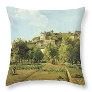 The Gardens Of The Hermitage Throw Pillow by Camille Pissarro