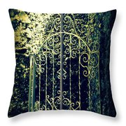The Gate In The Grotto Of The Redemption Iowa Throw Pillow by Susanne Van Hulst