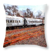 The Golden Age Of Railroads . 7d115623 Throw Pillow by Wingsdomain Art and Photography