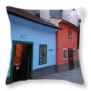 The Golden Lane Throw Pillow by Mariola Bitner