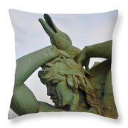 The Goose Strangler Throw Pillow by Bill Cannon