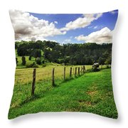 The Green Green Grass Of Home Throw Pillow by Kaye Menner