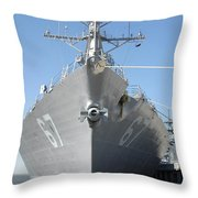 The Guided Missile Destroyer Uss Cole Throw Pillow by Stocktrek Images