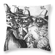 The Gunpowder Rebellion, 1605 Throw Pillow by Photo Researchers