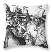 The Gunpowder Rebellion, 1605 Throw Pillow by Photo Researchers