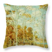 The Hawk's Nest Throw Pillow by Childe Hassam
