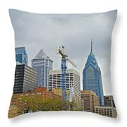 The Heart Of The City - Philadelphia Pennsylvania Throw Pillow by Mother Nature
