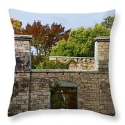 The Hermitage Throw Pillow by Barbara McMahon