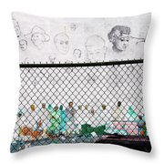 The History Wall Throw Pillow by Terry Wallace