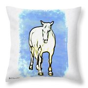 The Horse Throw Pillow by Bill Cannon