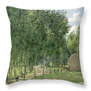 The House In The Forest Throw Pillow by Camille Pissarro