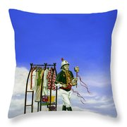 The Journey Of A Performer Throw Pillow by Cindy D Chinn