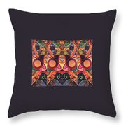 The Joy Of Design Series Guardians Throw Pillow by Helena Tiainen